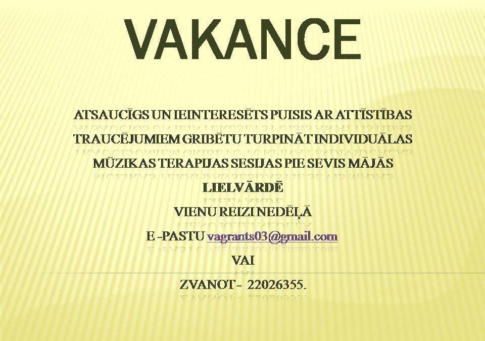 Vakance!