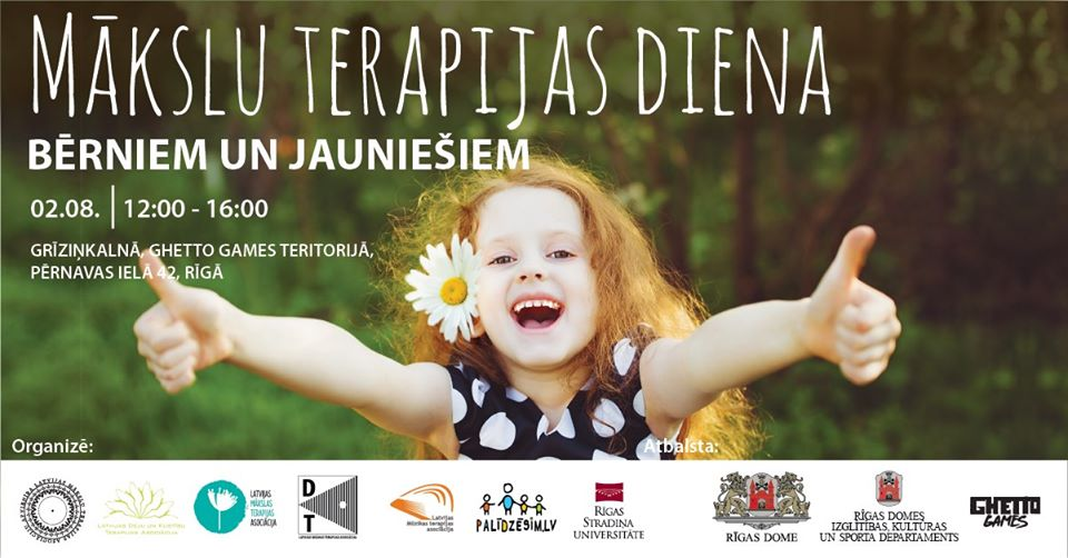 Mākslu terapijas diena bērniem un jauniešiem